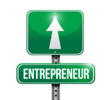 entrepreneur road sign illustrations design