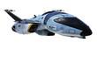Leinwanddruck Bild - new space ship clouds reflection
