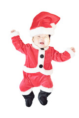 baby wearing christmas costume