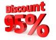 95 percent discount