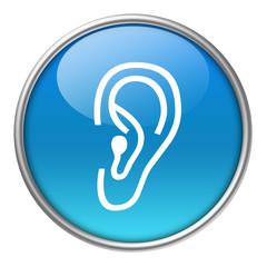 Bottone vetro orecchio