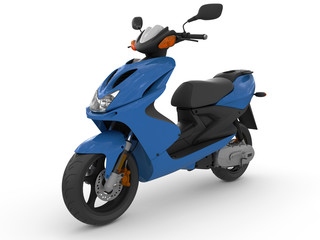 Modern blue scooter