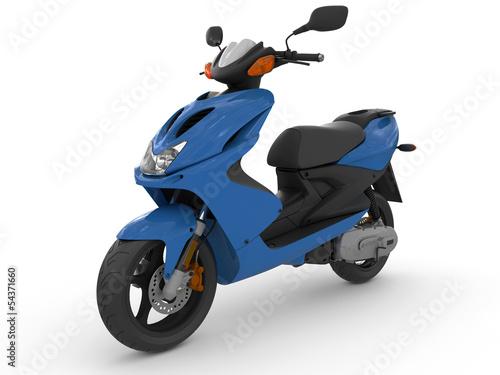 Modern blue scooter - 54371660