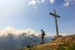 panorama dalla vetta con croce