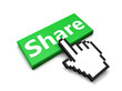Share button green 3d