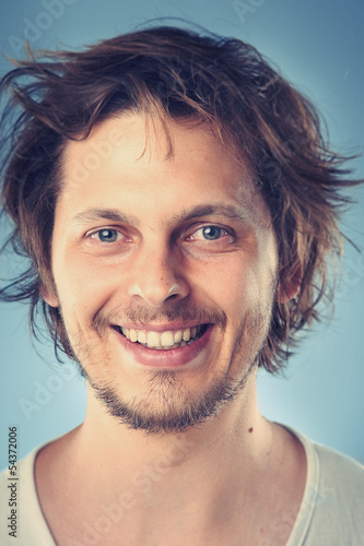 smiling portrait man