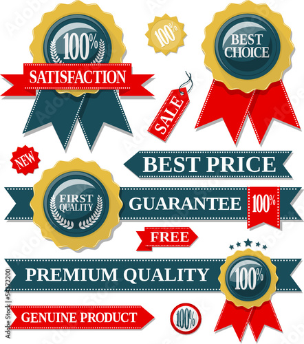 labels quality vector collection