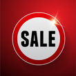 Sale button red vector