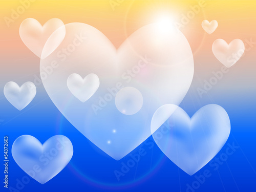 Heart Clouds Vector Illustration