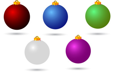 various colour christmas balls