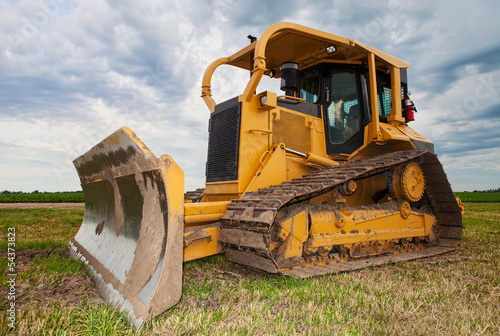 Large yellow bulldozer