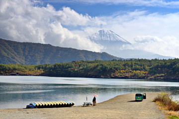 Fuji and Lake Saiko in Japan