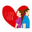 i love you design