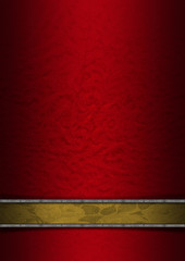 Luxury Floral Red Gold Silver Background