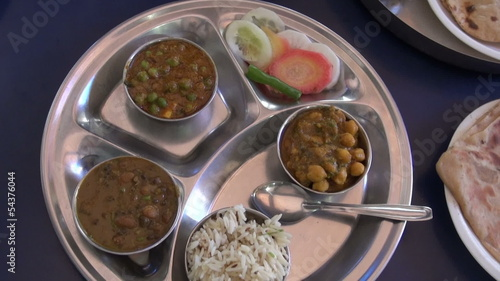 food in India train station on table