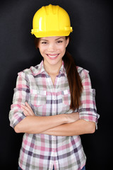 Female construction worker or engineer portrait
