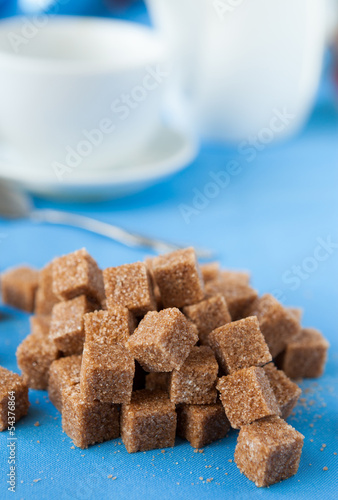 refined cane sugar on the table