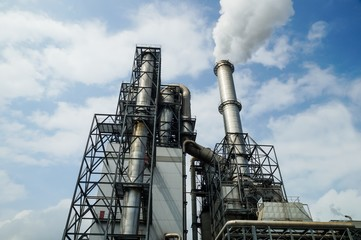 Abgase, Industrieanlage
