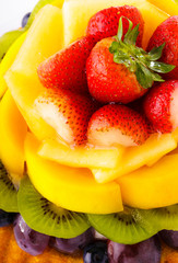Fruit tart close up