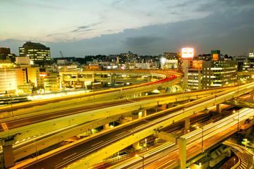 高速道路の夜景