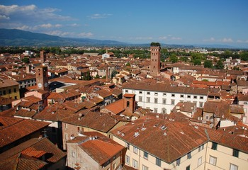 Lucca-Panorama dalla Torre dell'Orologio