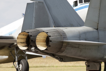 Fighter jet engines ready to go
