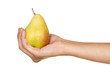 Hand with a pear