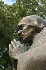 Monument of Mother Teresa in Skopje, Macedonia
