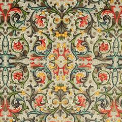 floral ornamental pattern ,classic florentine paper