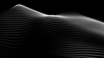 White lines energy on black background