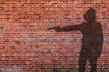 gun man shadow