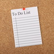 A To Do List pinned to a notice board