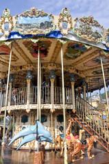 Ancient Carousel of Alderdi Eder gardens, Donostia (Spain)