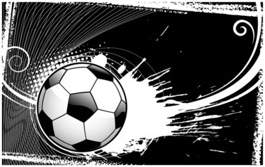 abstract soccer ball backround