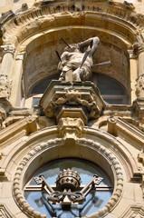 Detalle de la iglesia de Santa María del Coro, Donostia (España)