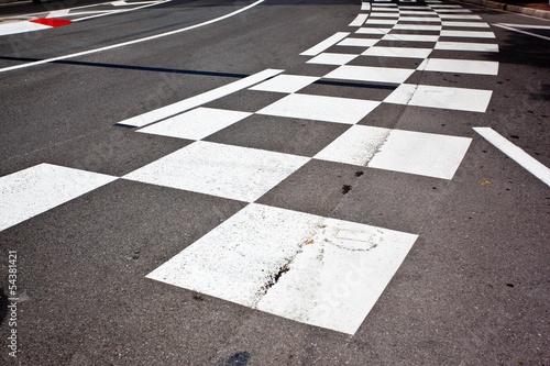 Deurstickers F1 Car race asphalt