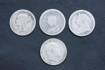 Threepence, silver coin, Victoria, Edward, British
