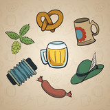 Octoberfest Cartoon Elements.