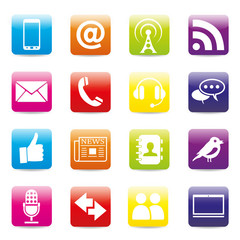 16 Contact icons