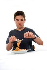 Spaghetti aufrollen