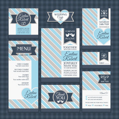 set of classic wedding cards