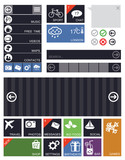 Flat User Interface Elements and Icons
