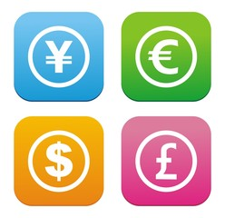 currency flat style icon