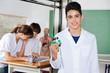 Schoolboy Holding Molecular Structure