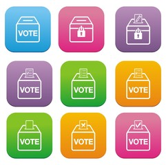 election flat style icons
