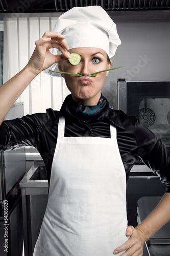 Woman Chef - 54385820