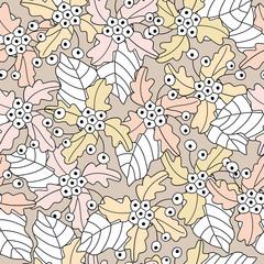 Seamless of flower background pattern , Vector illustration