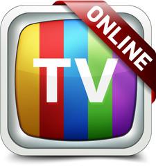 Online TV button