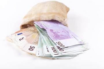 Euros Pouring