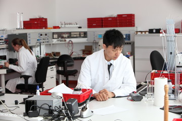 Young Asian laboratory technician